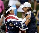 American golfers dominate Europe in Solheim Cup